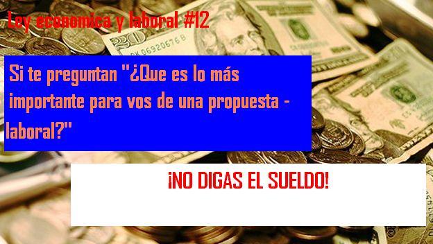 ley economica y laboral 12